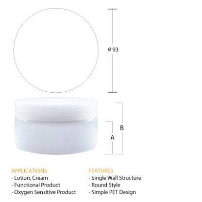 S10 White PET Jar