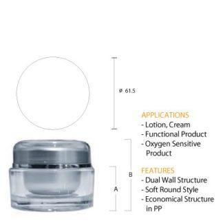J01 Acrylic Round Silver Jar