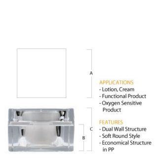 M01 Acrylic Square Jar