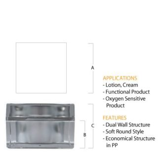M02 Acrylic Square Jar